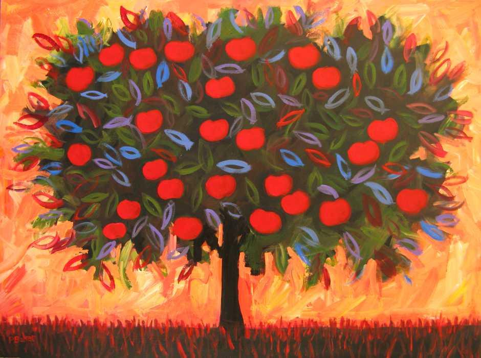 Abstract Apple Tree III